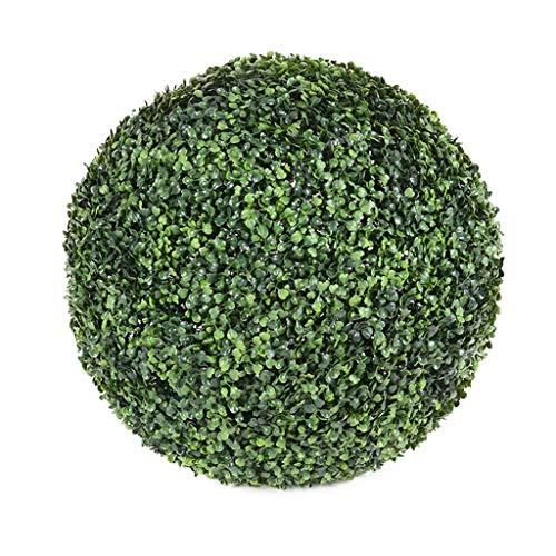 LXLTL Buchsbaumkugel grün Mailänder Graskugel Indoor & Outdoor Garten Deko Buchsbaum Kugel künstlich Buchskugel,50cm