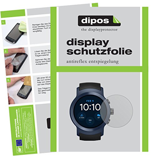 dipos I 6X Schutzfolie matt kompatibel mit LG Watch Sport Folie Bildschirmschutzfolie