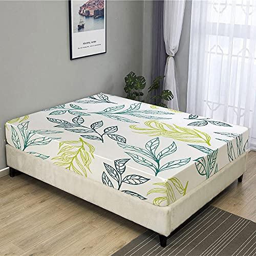 Sábana de Cama de Hoja de Planta 3D de Tres Piezas Colcha a Prueba de orina y Transpirable sábanas de colchón para personalizar-C30_180cmX200cmX3