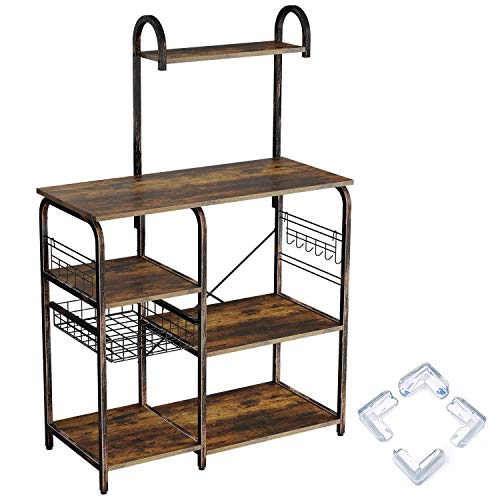 Rolanstar Kitchen Baker's Rack, Large Capacity Utility...