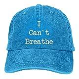 Lsjuee I Cant Breathe F Gorras de béisbol Ajustables Sombreros de Mezclilla Sombrero de Vaquero Retr...
