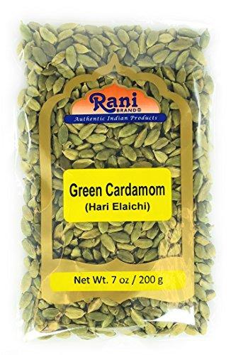 Rani Green Cardamom Pods Spice (Hari Elachi) 7oz (200g) ~ All Natural | Vegan | Gluten Friendly | NON-GMO | Product of India