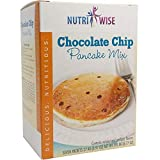 NutriWise - High Protein Diet Pancakes | Chocolate Chip | Low Calorie, Low Fat, 7/Box