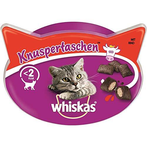 Whiskas – Poches à Knusper avec bovine – 8 x 60 g