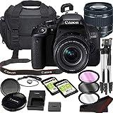 Canon EOS 800D (Rebel T7i) DSLR Camera Bundle with 18-55mm STM Lens | Built-in Wi-Fi|24.2 MP CMOS Sensor | |DIGIC 7 Image Processor and Full HD Videos + 64GB Memory(17pcs)