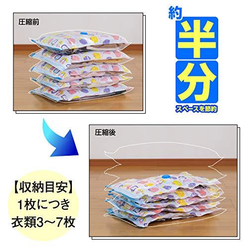アストロ圧縮袋10枚組55×40cmフルーツ柄623-13