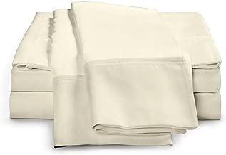 eLuxurySupply 4-Piece Bamboo Sheet Set - Ultra Soft 100% Rayon from Bamboo King Off-white BambooKINGIVORY