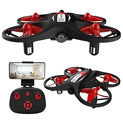 Drone pieghevole con fotocamera per adulti 720P HD FPV Live Video, controllo dei gesti, selfie, mantenimento dell'altitudine, modalità senza testa, flip 3D, quadricottero per bambini principianti co