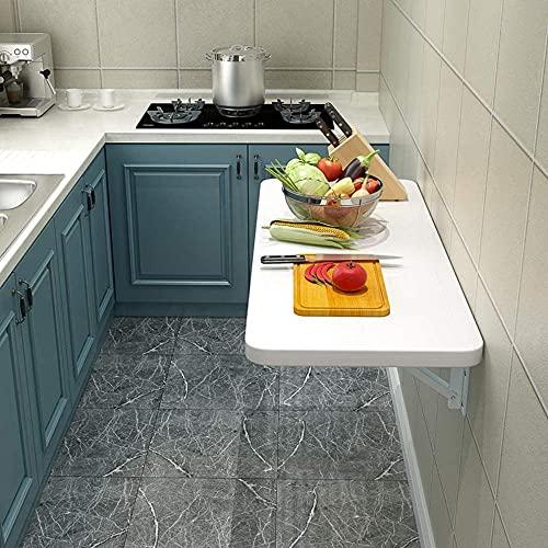 Kleiner haushaltsmontierter faltender Esstisch, schwimmende Küchenkonsole, Multifunktions-Computerschreibtisch, können Wäscheservice- / Esszimmer/Wohnzimmer/Learning-Raum sparen-55x40cm / 22x16in.