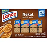 Lance Sandwich Cookies, Nekot Peanut Butter, Value Size 20 Count Box