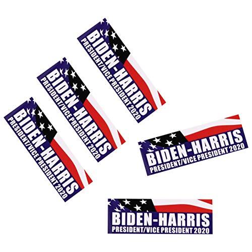Wakauto 5Pcs 2020 Abstimmung Biden Harris Autoaufkleber Demokraten Unterstützung Aufkleber USA Präsidentschaftswahl Auto Aufkleber für Auto nach Hause Wand Umschlag (9X3cm)