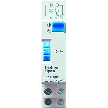 Theben 0870002 - ELPA 87 - Minutero de escalera - carril DIN - electromecánico - temporizador - Carril DIN: Amazon.es: Bricolaje y herramientas