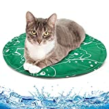 2021新版 猫冷感マット 犬ひんやりクールマット ペット冷却シート 冷えひえ 接触冷感 涼感ジェルマット 防水 繰り返し利用 夏 熱中症 暑さ対策 12ヶ月保証期 直経40cm