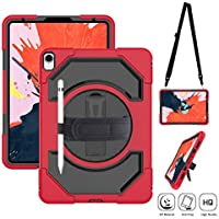 Supfives iPad Pro 11 Protective Case with Pencil Holder for iPad Pro 11