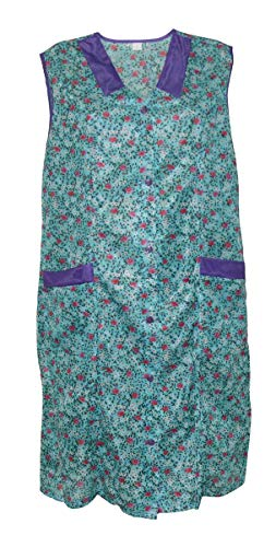 Kittel Schürze Kittelschürze Dederon Nylon versch. Farben, Farbe:Dessin 3, Größe:62