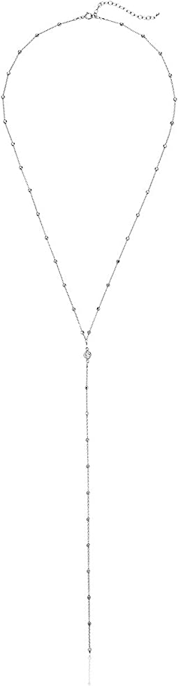 Dogeared - Beaded Chain w/ Crystal Y Necklace