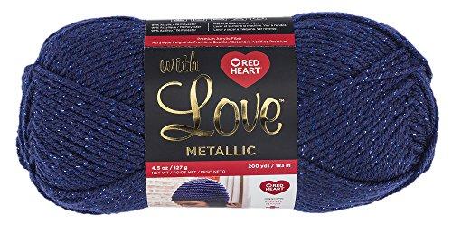 Red Heart With Love Yarn, Metallic - Royal