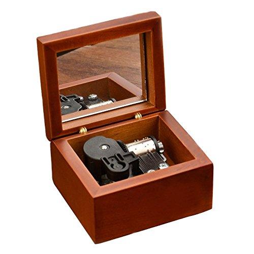 Aufzieh Holz Musik Box Mit Vergoldung Bewegung in, holz, Brown-Silvery, Lilium From Elfen Lied