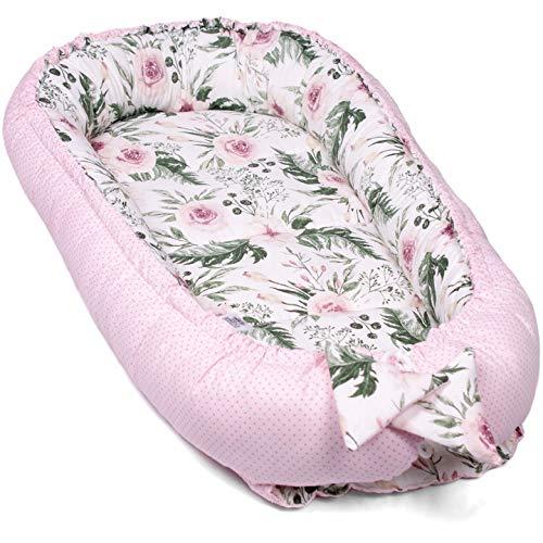 Baby Nest PALULLI Cama Nido de Bebé Recién Nacido para Acurrucarse, Capullo Multifuncional, Reductor Protector de Cuna Cama de Viaje para Dormir Nido bebé Reversible