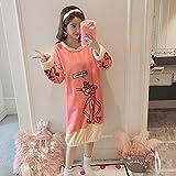 Handaxian Fashion warm Flanell Nachthemd Damen Schlafanzug Home Service Casual Schlafen Kleidung Mädchen Geschenk 6 XXL
