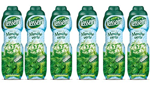 6 Sirup grüne Minze Teisseire - 6 x 0,60L