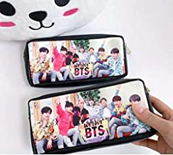 Cute Critters Kpop BTS Bangtan Boys Pencil Case Pouch Coin Bag School Supplies BTS Stationery A.R.M.Ys Gift (A2)