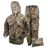 FROGG TOGGS Men's Ultra-Lite2 Waterproof Breathable Rain Suit, Realtree Edge, Small