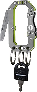 Loowoko Multitool Carabiner Keychain Tactical Key Knife Survival Gear Tool Buckle Pack, Keychain Clip, Spring Snap Key Chain Clip Hook Screw Gate Buckle