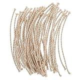 Supvox 50 Unids Quemador Mechas Hilo de Algodón de Repuesto Cuerda de Mecha de Vela para Lámparas...
