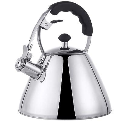 E-Gtong Whistling Tea Kettle, Stovetop 304 Stai...