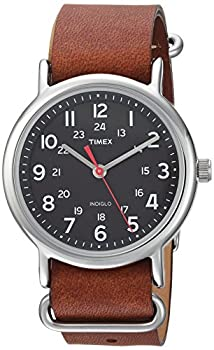 Timex Weekender 38mm Quartz Analog Watch with Leather Strap Brown 20  Model  TW2R63100