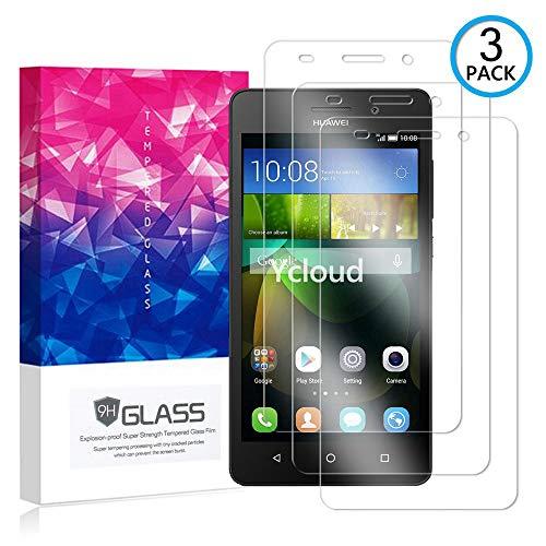 Ycloud [3 Pack] Pellicola Protezione di Schermo per Huawei G Play Mini,[9H Dureza/0.3mm],[Alta Definicion] Vetro temperato Pellicola Protettiva per Huawei G Play Mini