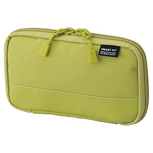 LIHITLAB Smart Fit - Estuche compacto para lápices, Amarillo Verde