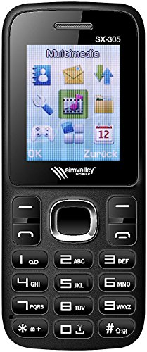 simvalley MOBILE Dual SIM Tastenhandy: Dual-SIM-Handy SX-305 mit Bluetooth VERTRAGSFREI (Phone)