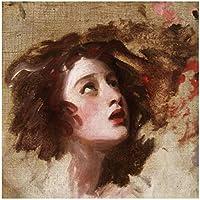 アートパネル エマハートの有名な絵画の肖像画ポスターとプリント壁アートキャンバス絵画ホームルームの家の装飾19.7x19.7in(50x50cm)x1pcsフレームなし