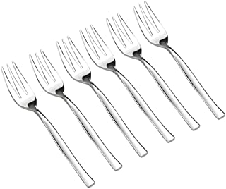 Idomy 16-Piece Dessert Fork, Stainless Steel 3-Tine Tasting Forks for Appetizers, Desserts