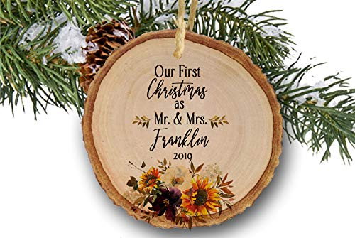 Wedding Photo Personalized Ornament First Christmas Married Ornament Wedding Gift Newlywed Gift Wedding Ornament