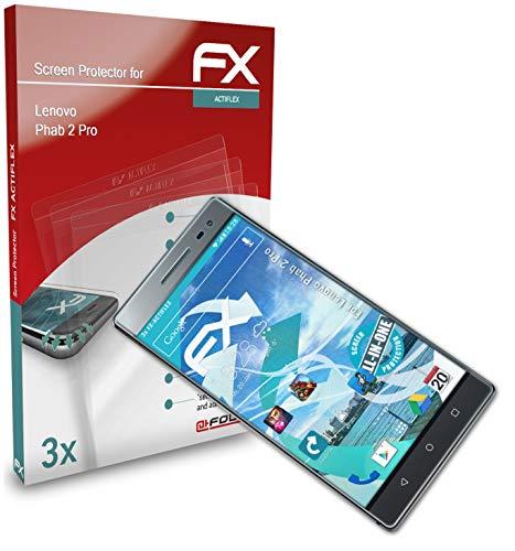 atFolix Schutzfolie kompatibel mit Lenovo Phab 2 Pro Folie, ultraklare & Flexible FX Bildschirmschutzfolie (3X)