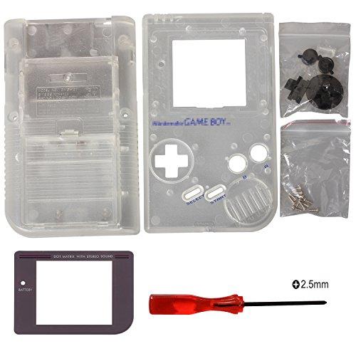 Timorn reemplazo Vivienda Shell Caso Cubierta para Gameboy GB Consola (Transparente)