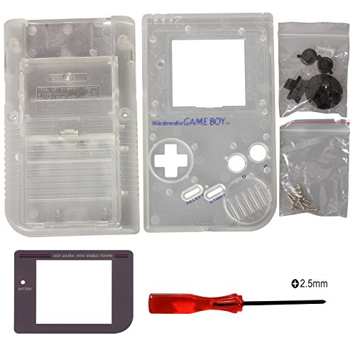 Timorn Ersatzgehäuse Shell Tasche für Gameboy GB Konsole (Transparent)