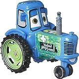 CARS Autos Disney-Figuren klein aus Metall - 'Clutch and Racing Tractor' Spielzeugauto im Maßstab 1:55 - Traktor 8cm Rennauto Spielzeugauto Kinder DXV29