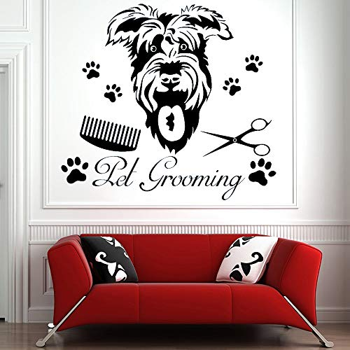 AGjDF Tierhandlung Wandkunst Dekoration, Glastür Dekoration, Vinyl, Wand, Tier Poster, abnehmbare DIY Wandbild46x42cm