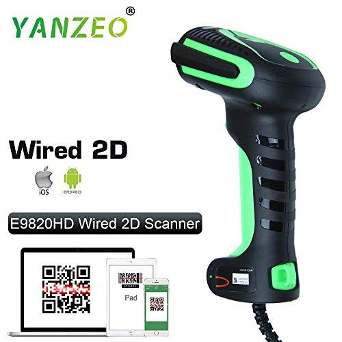 Yanzeo E9820Industrie IP65Création d'image de la Main 1d 2D QR USB Barcode Scanner CCD Scanner de Code à Barres utilisé Mobile écran d'ordinateur