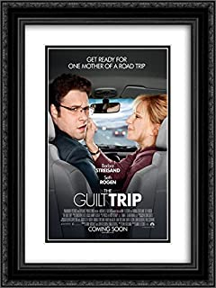 The Guilt Trip 20x24 Double Matted Black Ornate Framed Movie Poster Art Print