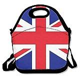 Qian Mu888 Lunchtasche mit britischer Flagge, isoliert, mit Reißverschluss, Kühltasche, tragbar,...