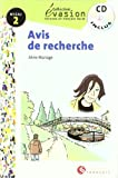 EVASION NIVEAU 2 AVIS DE RECHERCHE + CD (Evasion Lectures FranÇais) - 9788496597075