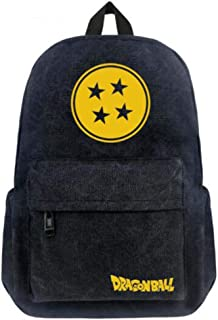Ersak Anime Z Cosplay Dragon Ball Goku School Bag Unisex Canvas Shoulder Bags Sackpack Traveling Pack (D)