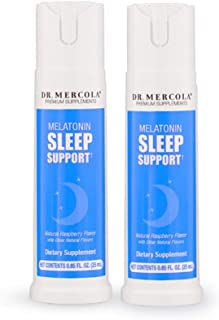 Dr Mercola Melatonin Sleep Support Spray - 2 Bottles - 25mL - Natural Sleep Aid for Deep, Restful Sleep - Plus Sleep-Suppo...