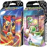 Pokemon Victini V & Gardevoir V Ambos mazos temáticos de batalla – 60 cartas cada uno