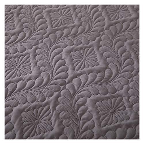 RHBLHQ Sábana Monocromo en Relieve Impermeable colchón Protector Estilo sábana Cubierta colchón colche Grueso Cama tapizada (Color : Gray C, Size : 135X190X30cm)